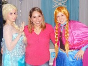 Personagens vivos frozen